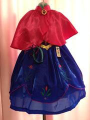 Anna Frozen Princess Costume with Cape
