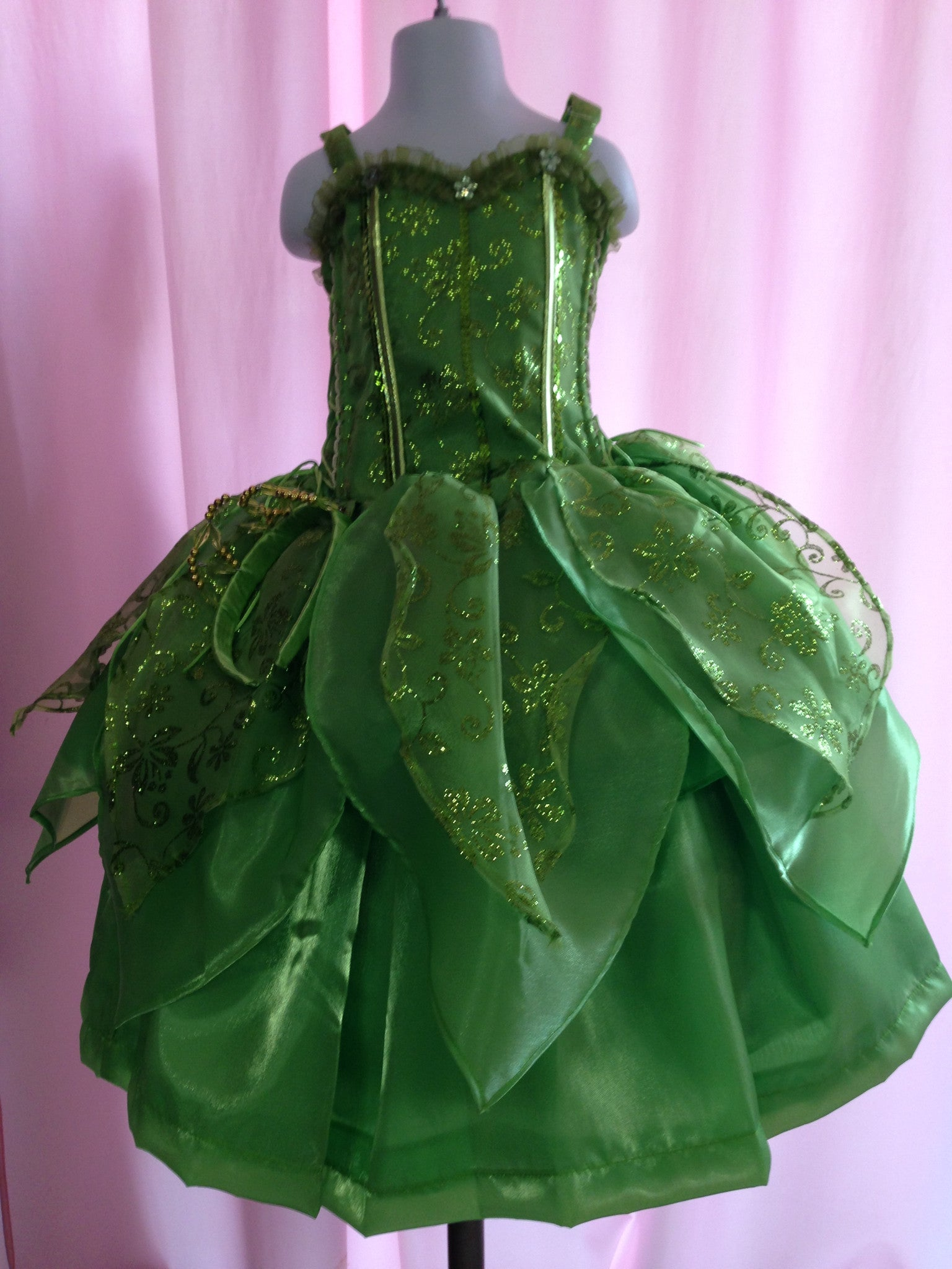Tinkerbell Girl Costume detachable Dress size 2 ONLY