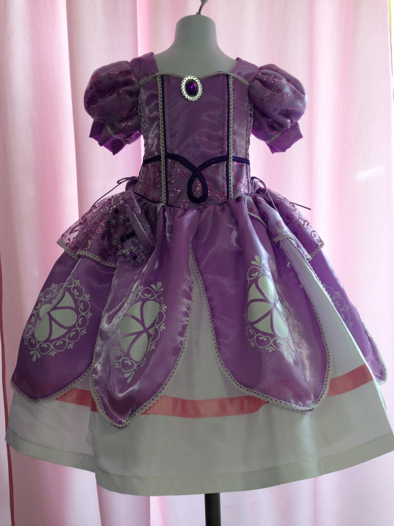 Princess Sophia Costume Beautiful Lilac Dress