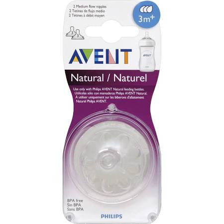 Natural Nipple First Flow 3 months by Philips AVENT