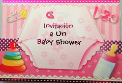 Baby Shower Invitation Girl Diaper