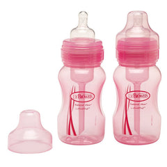 8oz Wide Neck 2pk Pink Baby Bottle by Dr Brown's