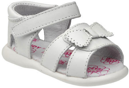 Baby Girl White Sandal Mod.A751 by Calzado Sandy