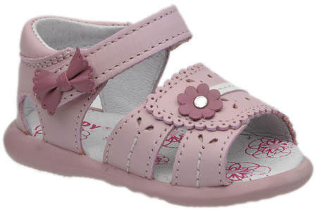 Pink Leather Sandal for Girls A752 by Calzado Sandy