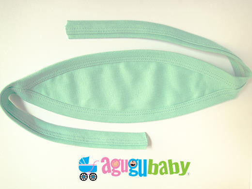 Baby Belly Button Cover, 100% Cotton  Green