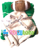 Baby Blanket Football with security blanket plush ball