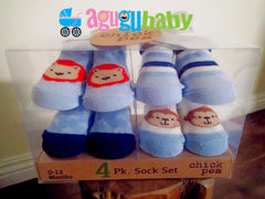 4pcs baby socks gift set by Cutie Pie