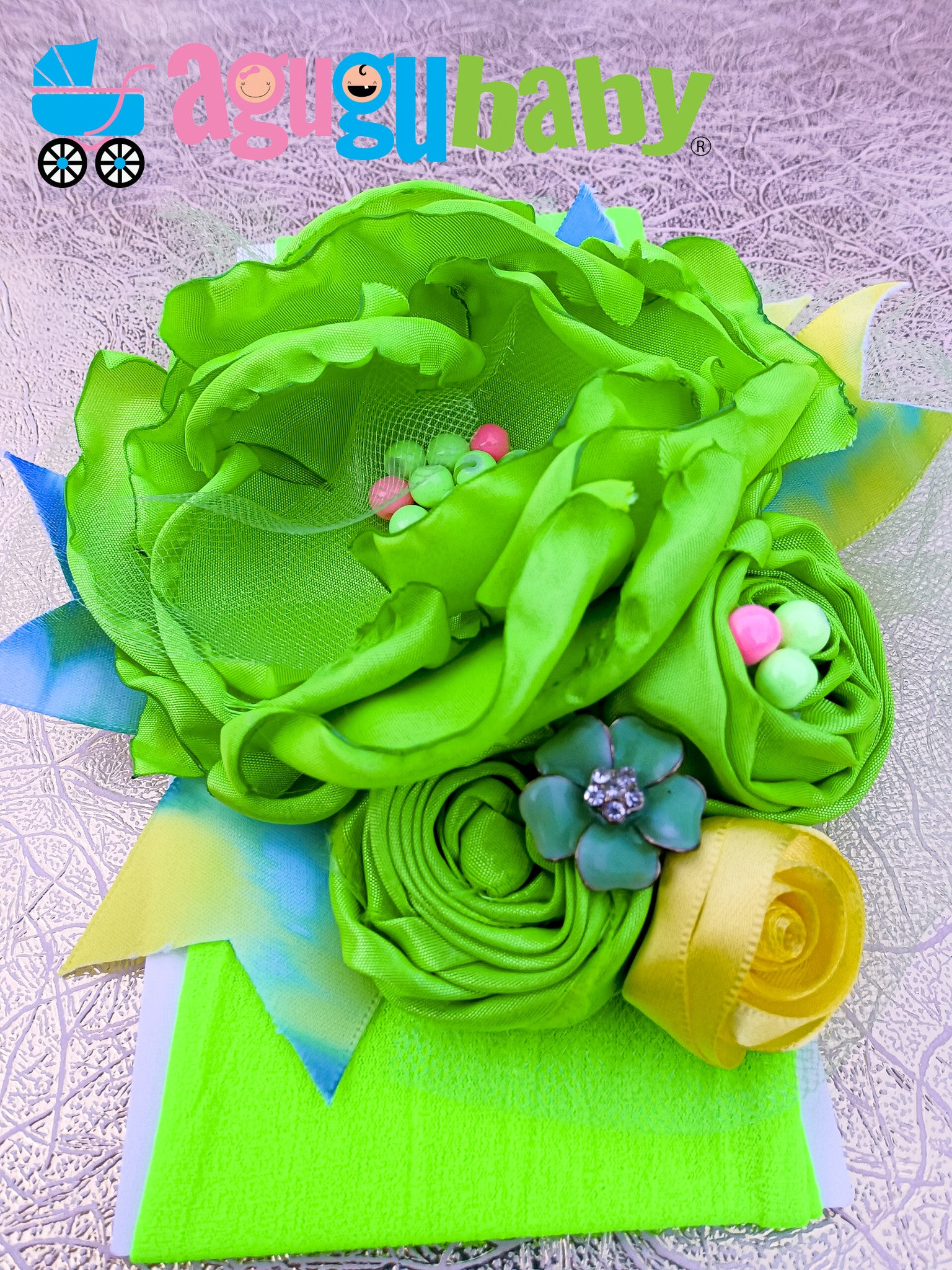 Neon Green Nylon Baby Headband