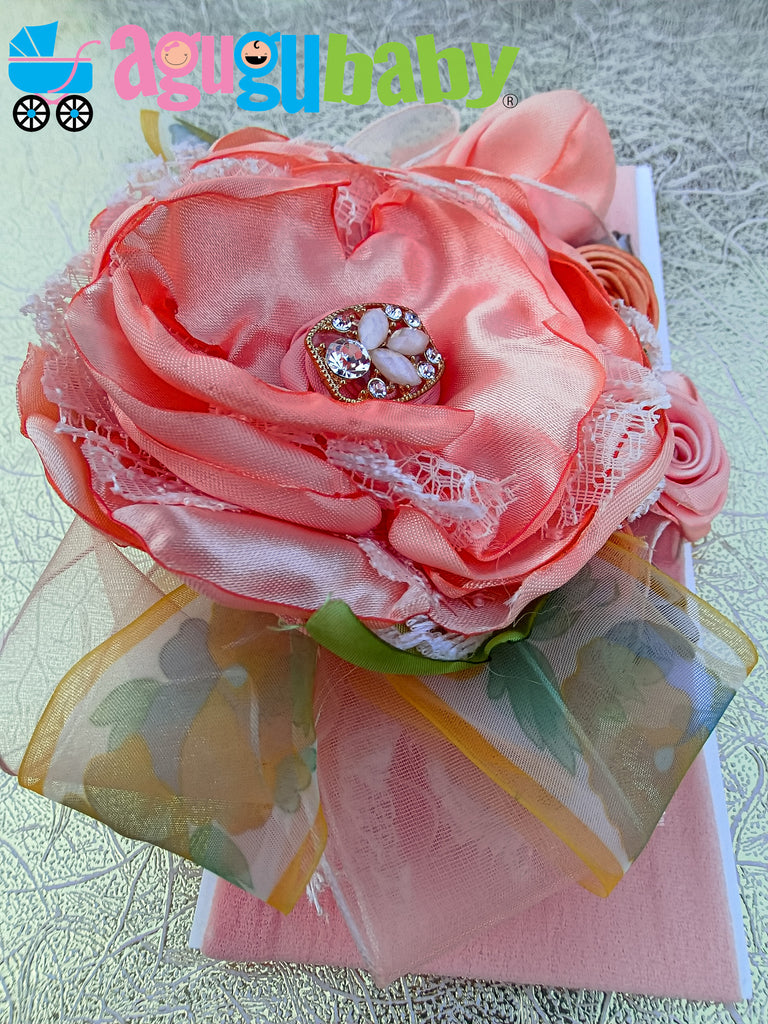 Peach Nylon Baby Headband