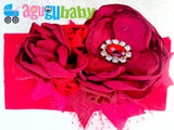 Red Nylon Baby Headband