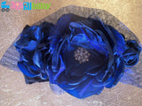 Navy Blue Nylon Baby Headband