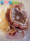 Tan Brown Gold and Beige Nylon Baby Headband
