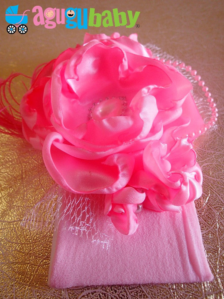 Bright Pink Nylon Baby Headband