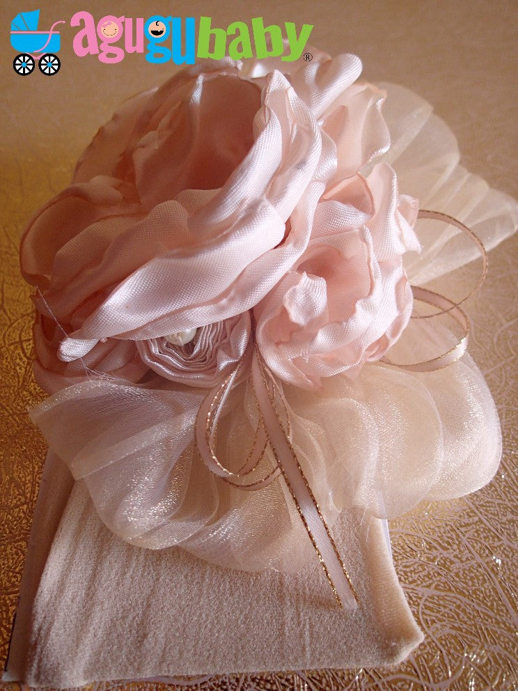 Cream Vanilla Nylon Baby Headband