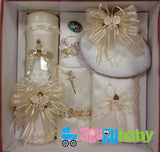 Baptism Candle Set Crystal Angel
