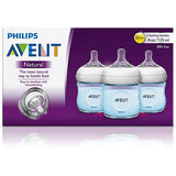 Blue Baby Bottle 4oz Natural 3pk by Philips AVENT