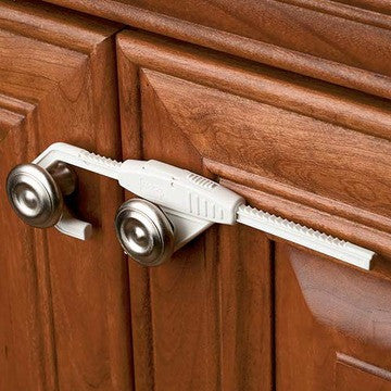 Sliding Cabinet Lock Safety, White by Kidco