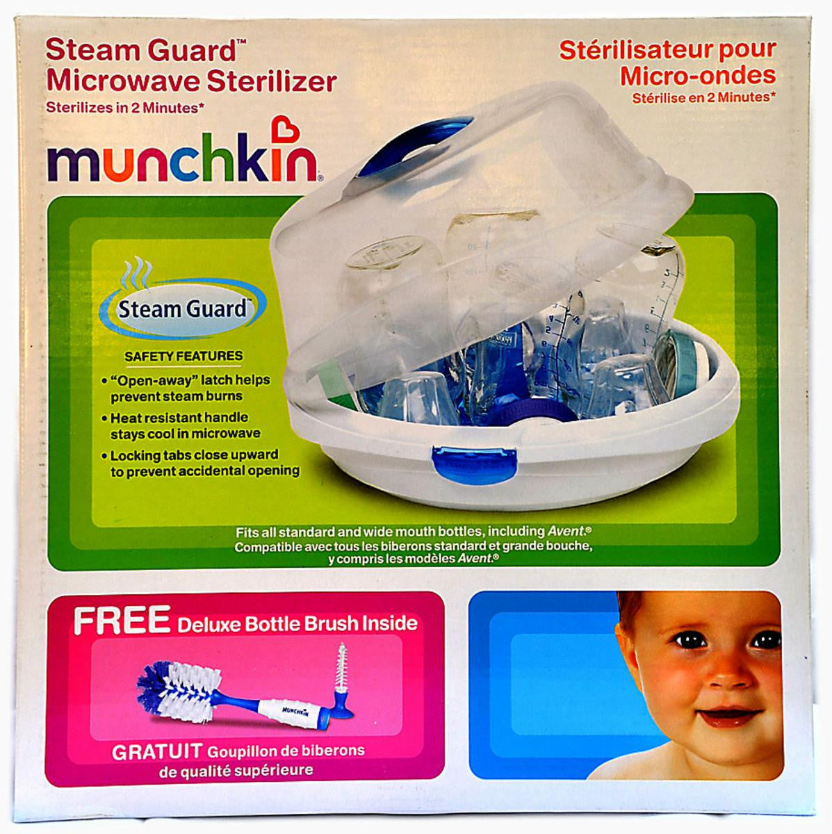 Microwave Sterilizer with Brush Included by Munchkin