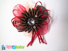 Medium Hair Bow Chocolate
