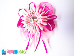 Medium Hair Bow Pink