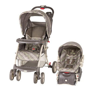 Travel System Monkey Plaid, Stroller, Infant Car Seat & Car Base by Baby Trend
