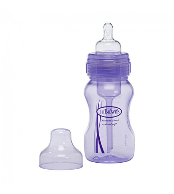 8oz Wide Neck Purple Baby Bottle by Dr Brown's