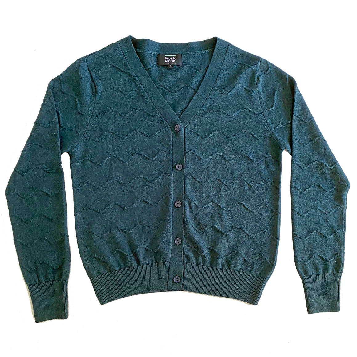Squiggle Cardigan - Atlantic Green