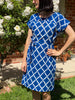 Ikat Kimono Sleeve Dress - Diamonds