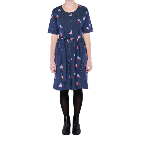 Radiance Button Through Dress - Winter Flowers