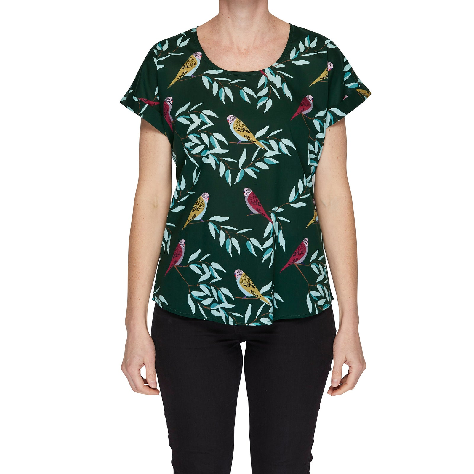 Box Tee Blouse - Tree Top