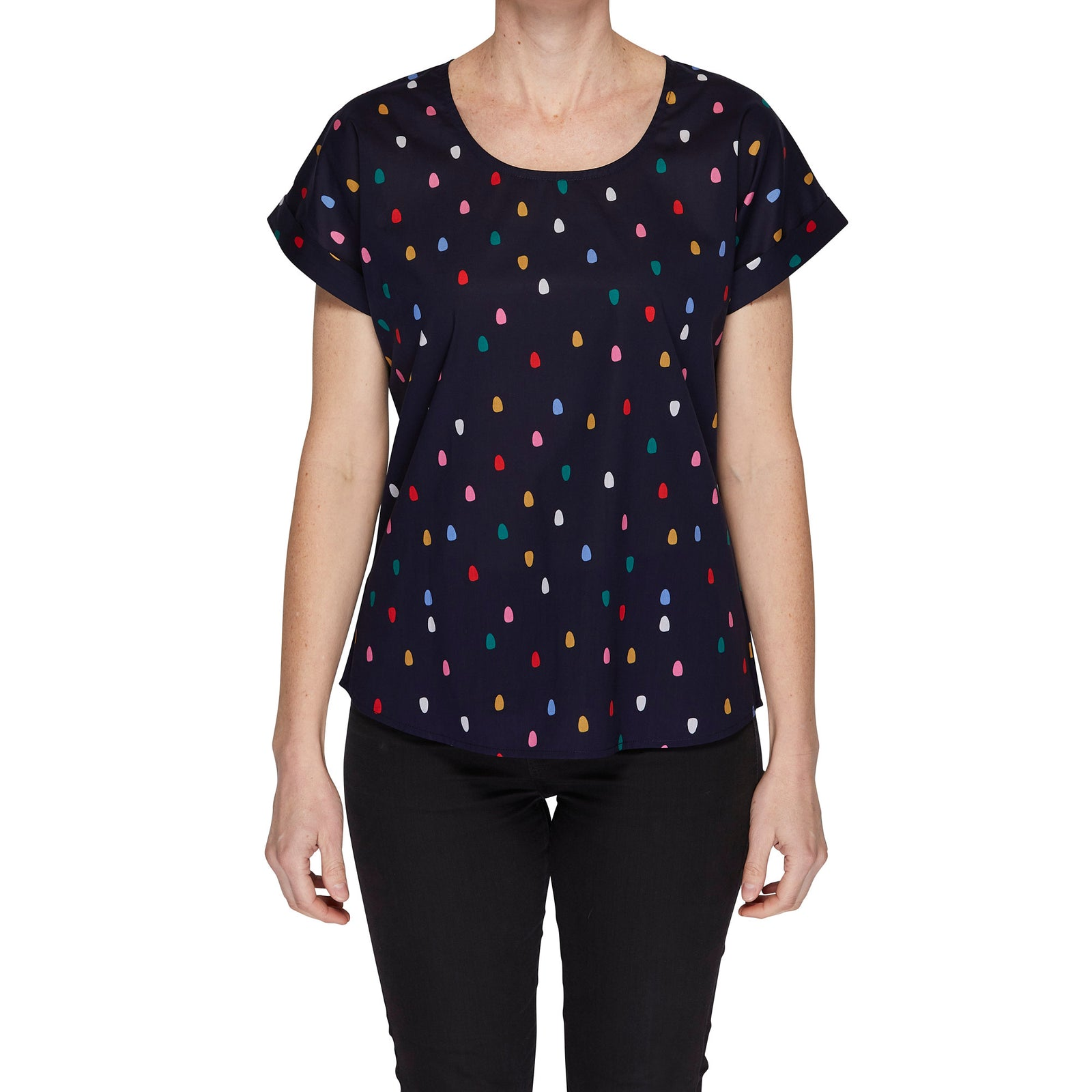 Box Tee Blouse - Spots