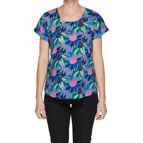 Box Tee Blouse - Summer Waratah