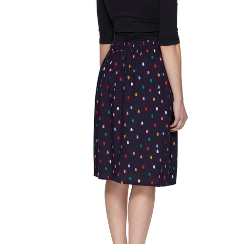 Pleat Skirt - Spots