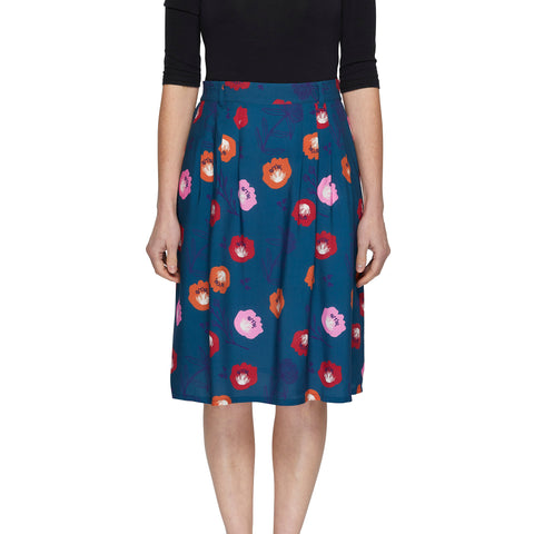 Pleat Skirt - Summer Floral