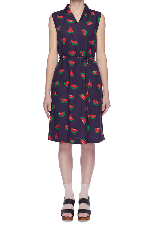 Collar Dress - Watermelon