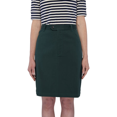 Pleat Skirt - Gum Leaf