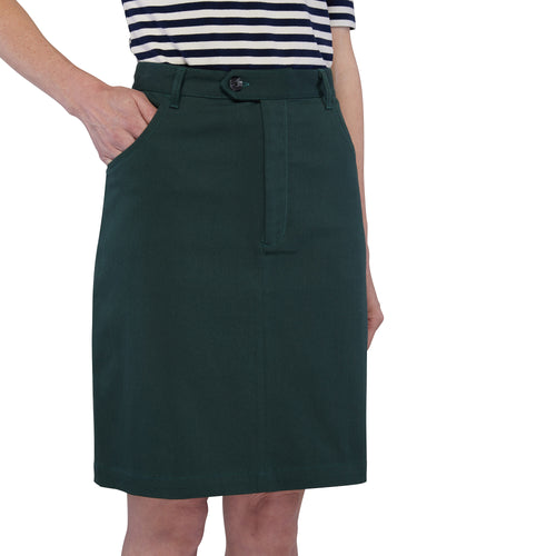 Zip Front Mini Skirt - Green