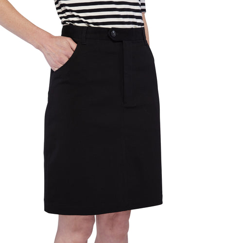 Zip Front Mini Skirt - Black