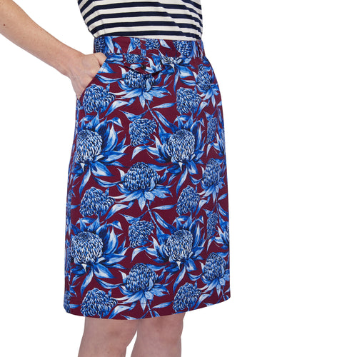 Pocket Skirt - Waratah