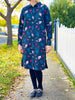Long sleeve shirt dress - Under the Sea