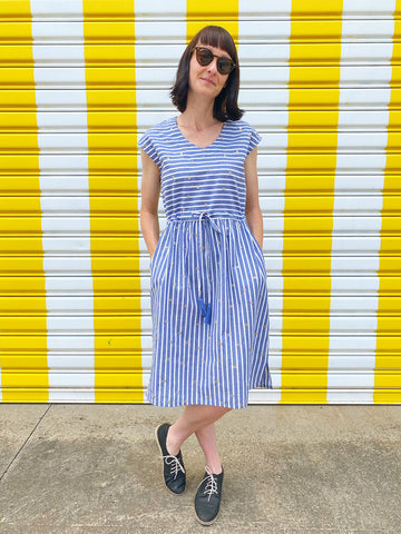 Kimono Sleeve Dress - Summer Waratah