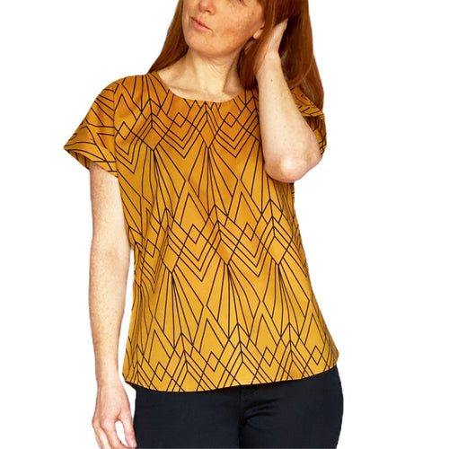 Box Tee Blouse - Deco Mustard