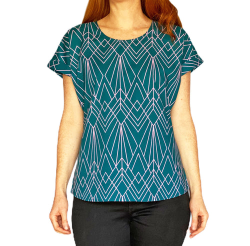 Box Tee Blouse - Deco Teal