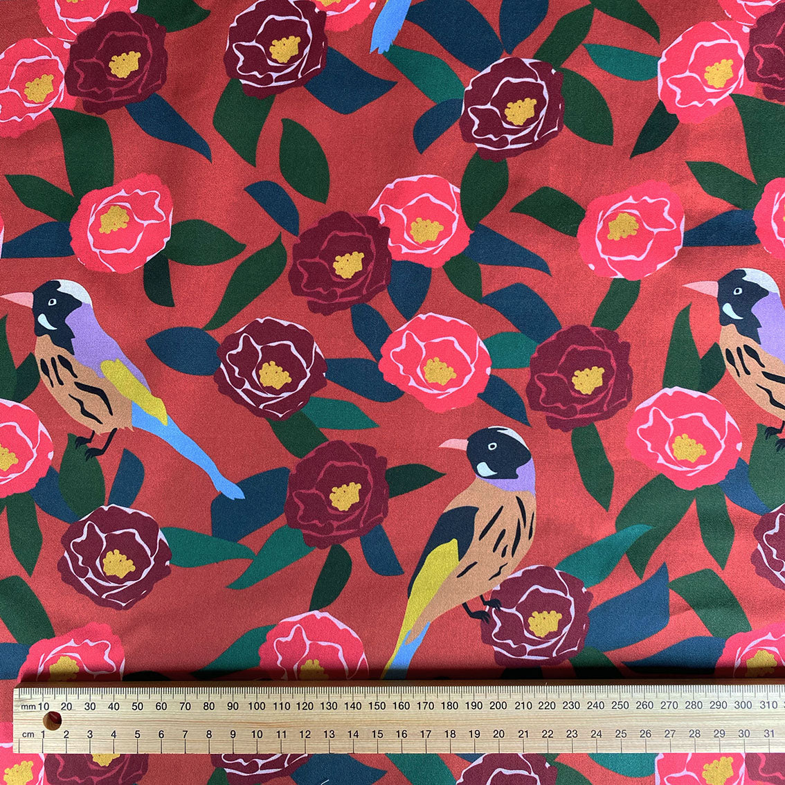 Camellia Tree - Cotton Twill fabric by the half metre