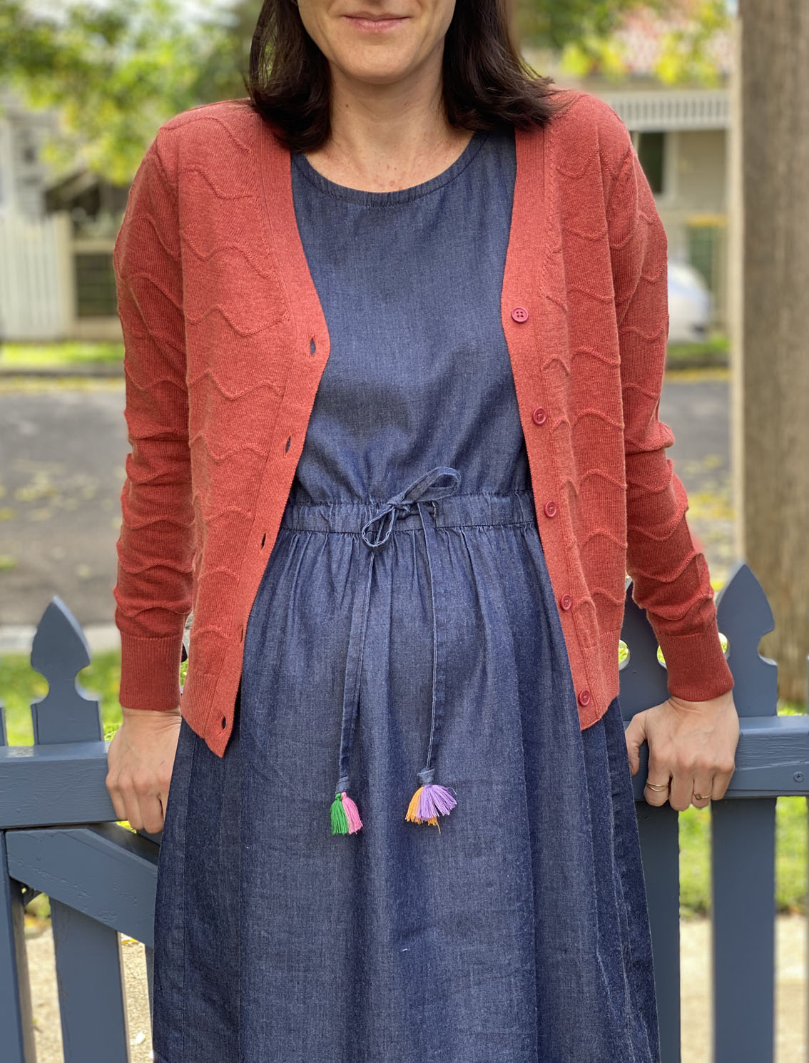 Squiggle Cardigan - Coral