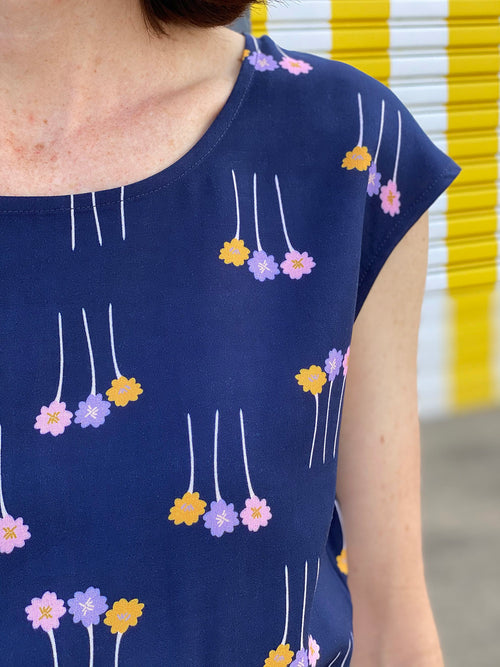 Drawstring Dress - Matchstick Flowers