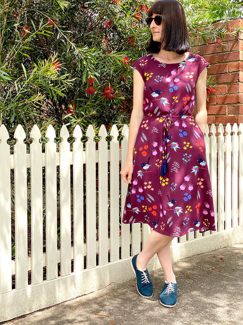 Drawstring Dress - Wrens Garden