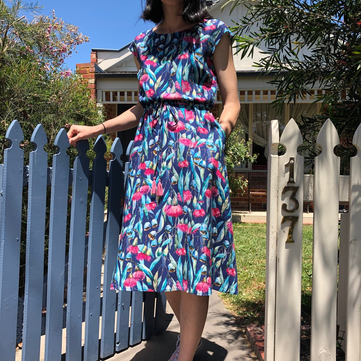 Drawstring Dress - Flowering Gum (BACK IN STOCK MID JANUARY)