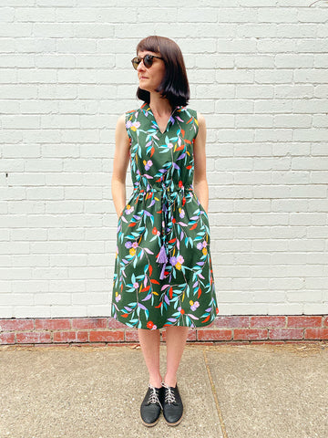 Kimono Sleeve Dress - Summer Floral