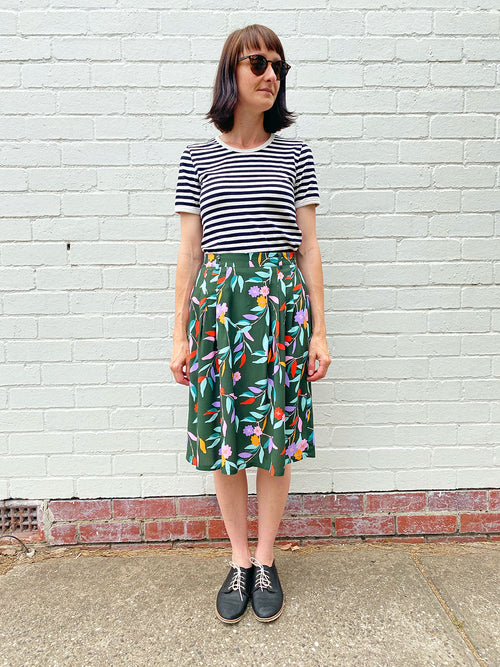 Pleat Skirt -Eucalyptus